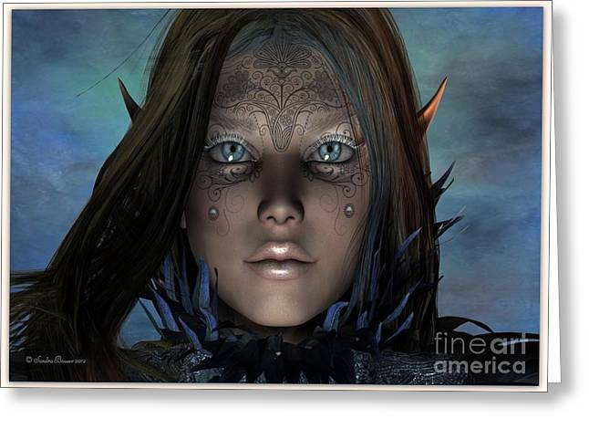 Greeting Card featuring the digital art Mystikal by Sandra Bauser Digital Art