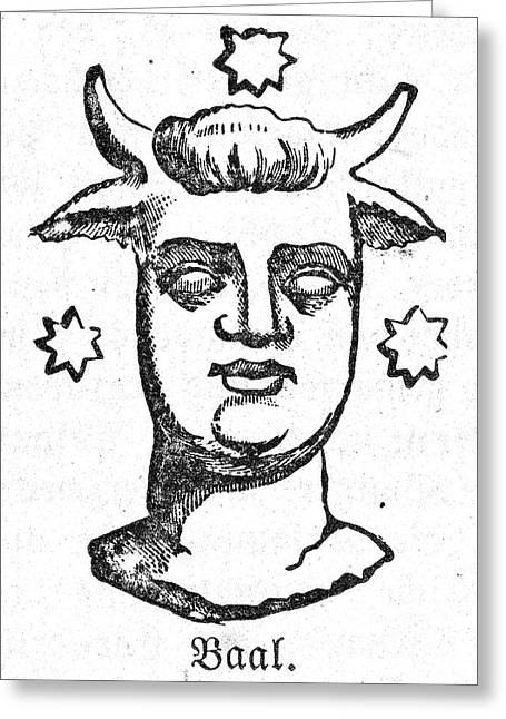Mythology: Baal Greeting Card by Granger