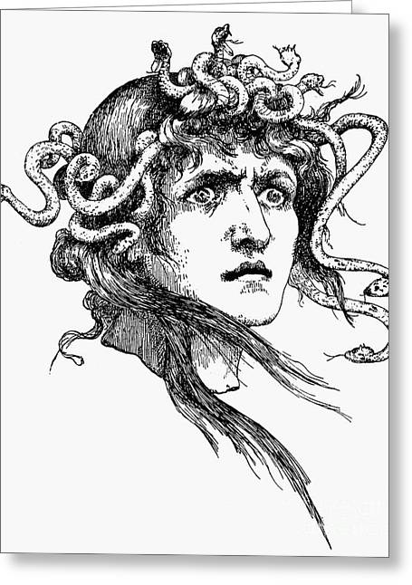 Mythology: Medusa Greeting Card by Granger