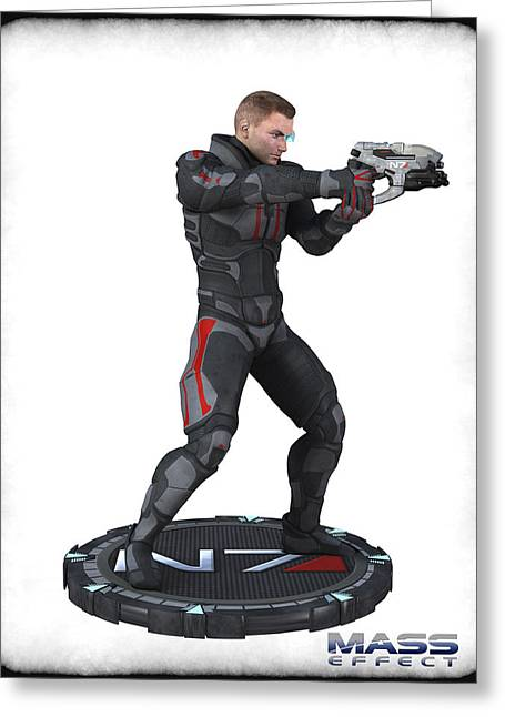 N7 Soldier V3 Greeting Card by Frederico Borges
