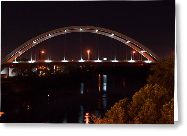 Nachville Bridge By Night 2 Greeting Card