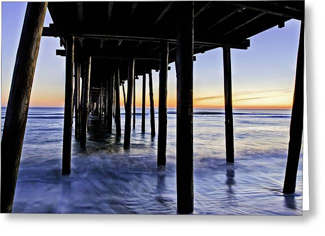 Nags Head Pier - A Different View Greeting Card