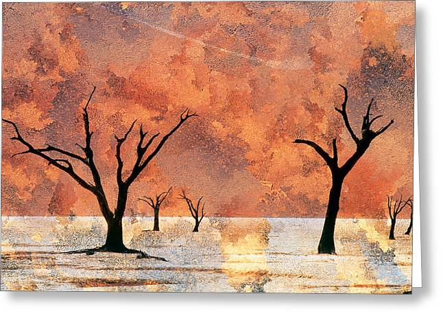 Nambia Desert Trees Greeting Card by Darwin Wiggett