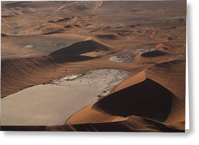 Namibia Aerial IIi Greeting Card by Nina Papiorek