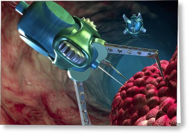 Nanorobot Attacking Cancer Greeting Card