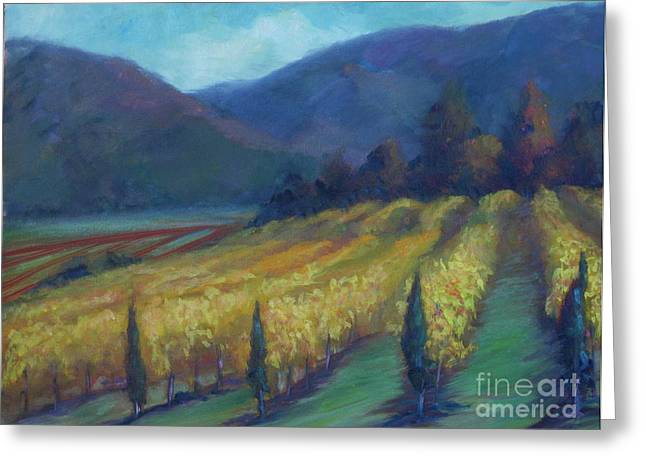 Napa Valley View From The Castle Greeting Card by Deirdre Shibano