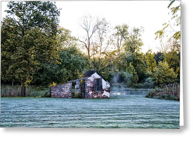 Narcissa Springhouse In Fall Greeting Card by Bill Cannon