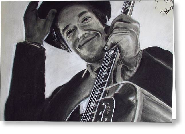 Nashville Skyline - Dylan Greeting Card by Eric Dee