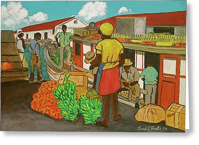 Nassau Fruit Boat Greeting Card by Frank Hunter