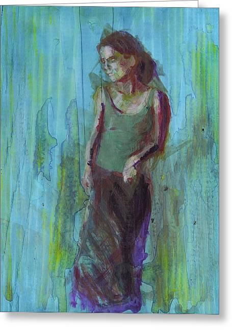 Natalie Greeting Card by Eric Atkisson