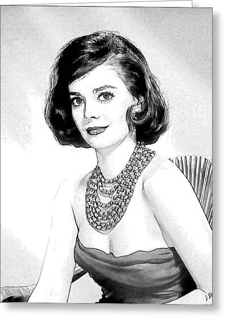 Natalie Wood 05 Greeting Card by Dean Wittle