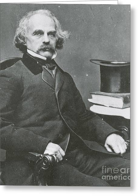 Nathaniel Hawthorne, American Author Greeting Card by Science Source