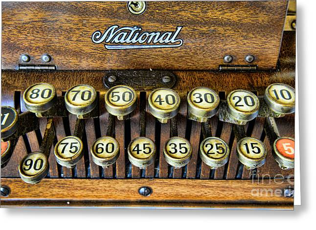 National Cash Register In Wood Greeting Card by Paul Ward
