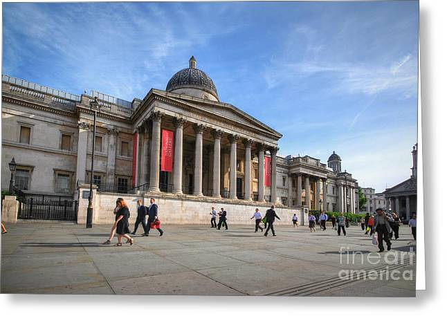National Gallery - London Greeting Card by Yhun Suarez