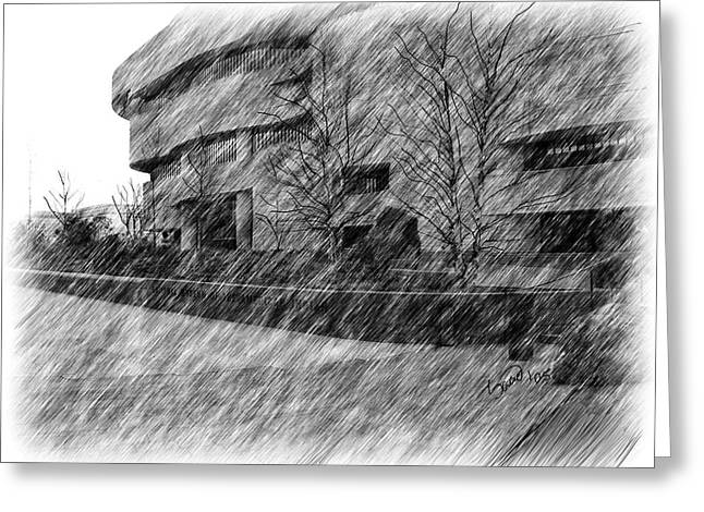 National Museum Of The American Indian Greeting Card by Yiries Saad