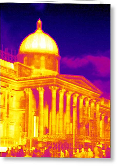 National Portrait Gallery, Thermogram Greeting Card by Tony Mcconnell