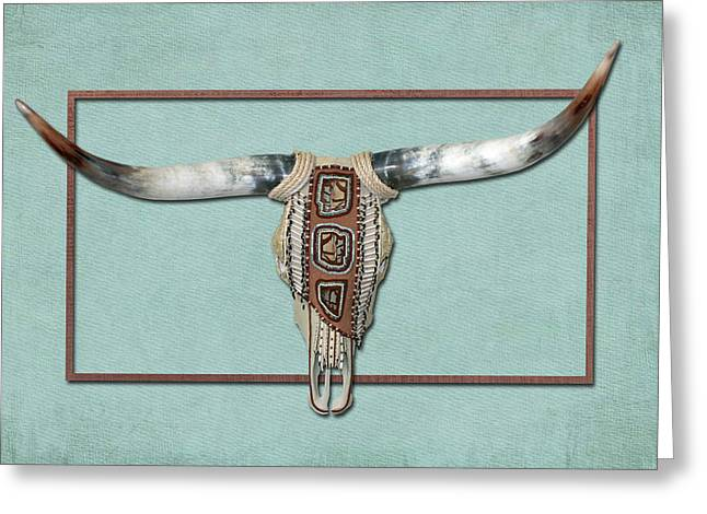 Native American Cow Skull Greeting Card