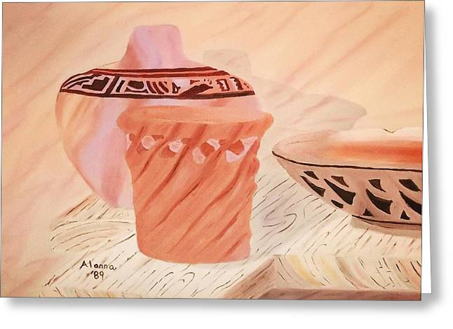 Native American Pottery Greeting Card by Alanna Hug-McAnnally