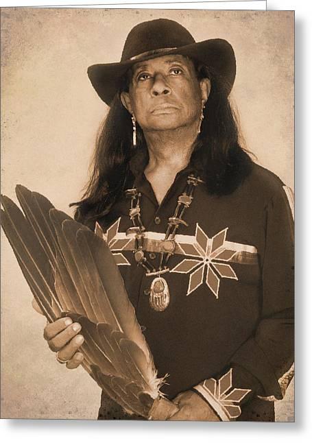 Native American Seer Greeting Card by Benjamin  Thomas