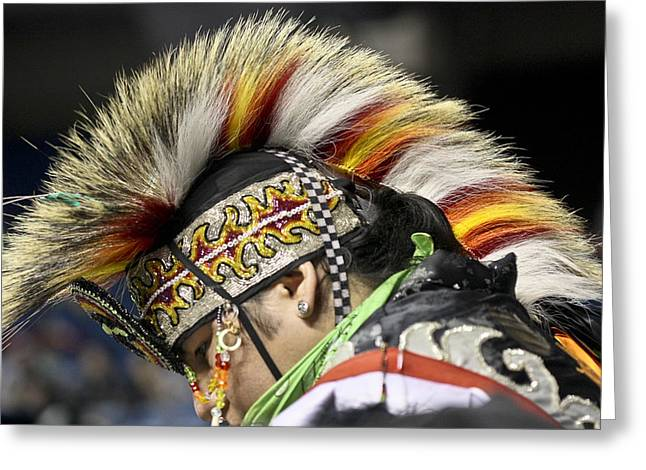 Greeting Card featuring the photograph Native Canadian-head Dress by Nick Mares