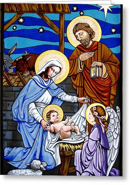 Nativity At Valley Ranch Greeting Card