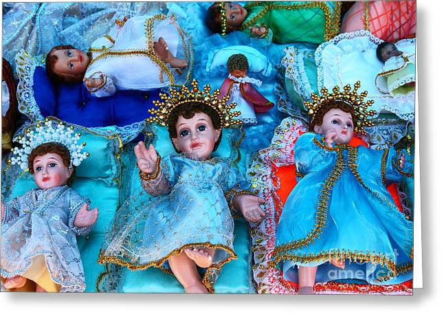 Nativity Scene Figures Greeting Card