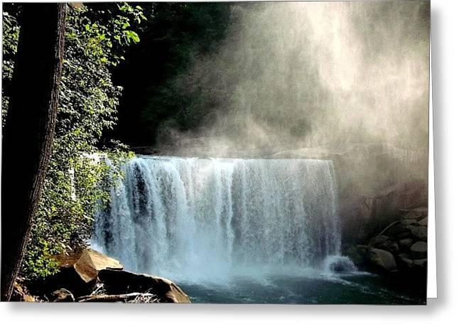 Natural Waterfall Greeting Card by Timothy Hudson