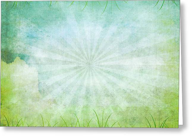 Nature Grunge Paper Greeting Card by Setsiri Silapasuwanchai