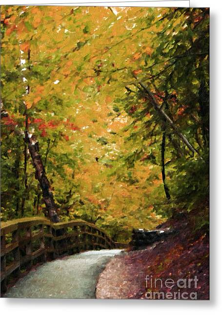 Greeting Card featuring the photograph Nature In Oil  by Deniece Platt
