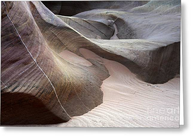 Nature's Artistry In Stone Greeting Card by Bob Christopher