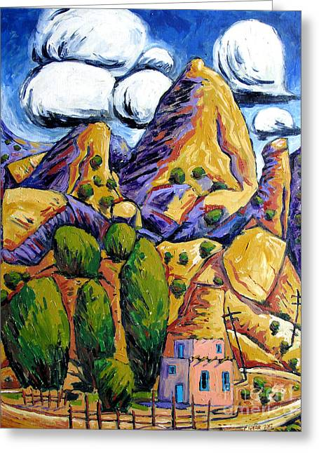 Navaho Trading Post Greeting Card by Charlie Spear
