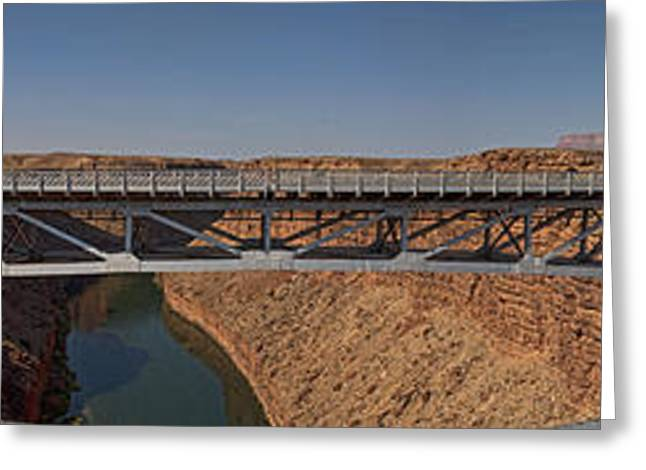 Navajo Bridge On Marble Canyon Greeting Card by Gregory Scott