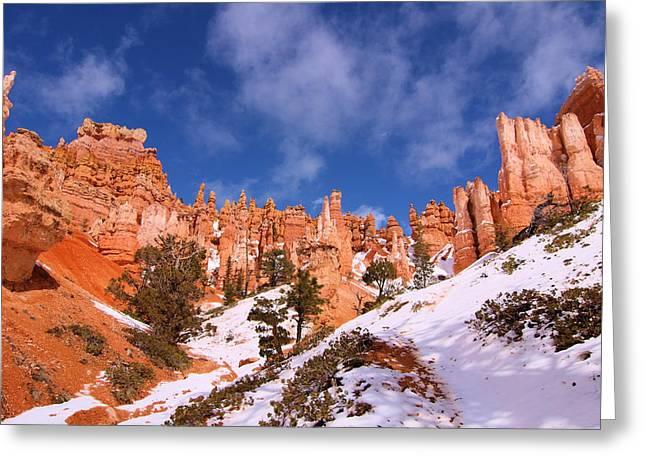 Navajo Trail Greeting Card by Viktor Savchenko