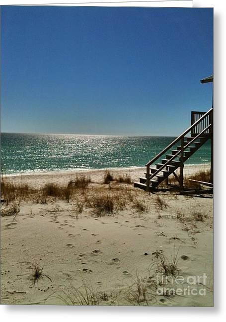 Greeting Card featuring the photograph Navarre Beach by Janice Spivey