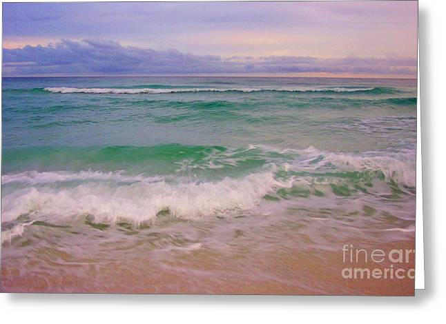 Navarre Sunset Greeting Card by Jeanne Forsythe
