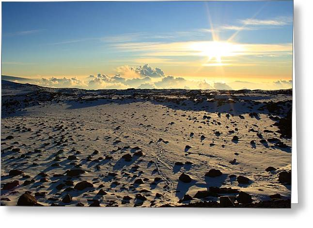 Greeting Card featuring the photograph Nearing Mauna Kea Summit by Scott Rackers