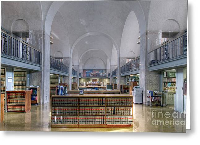 Nebraska State Capitol Library Greeting Card by Art Whitton