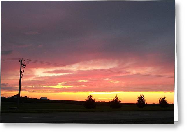 Nebraska Sunset Greeting Card by Adam Cornelison