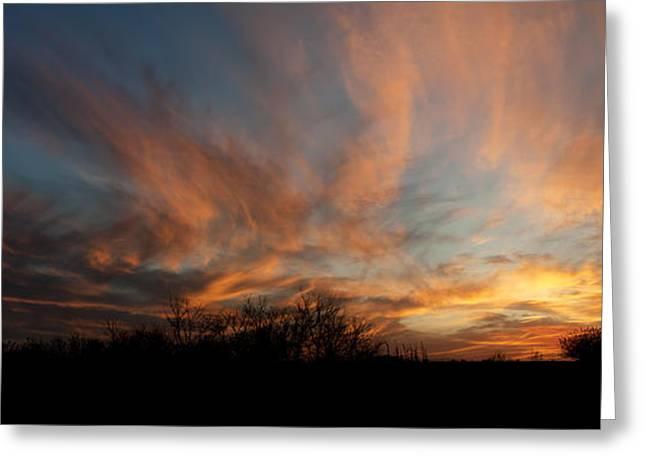 Nebraska Sunset Greeting Card by Art Whitton