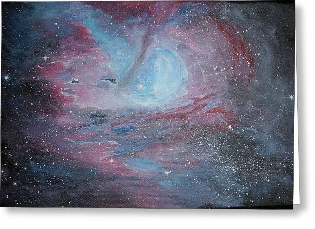 Nebula 2 Greeting Card by Siobhan Lawson