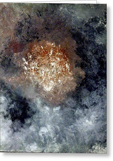 Nebula Greeting Card by Montserrat Lopez Ortiz