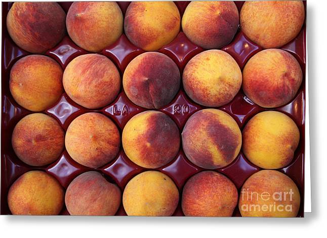 Nectarines - 5d17068 Greeting Card by Wingsdomain Art and Photography