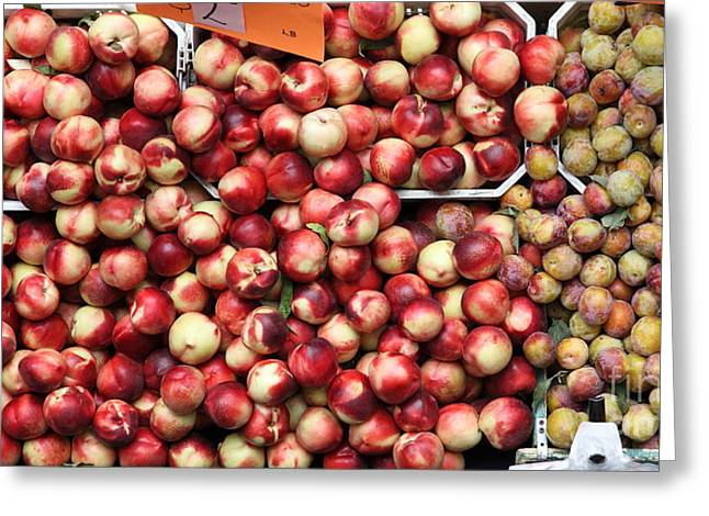 Nectarines And Pluots - 5d17905 Greeting Card by Wingsdomain Art and Photography