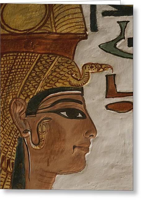 Nefertari Tomb Scenes Detail, Valley Greeting Card