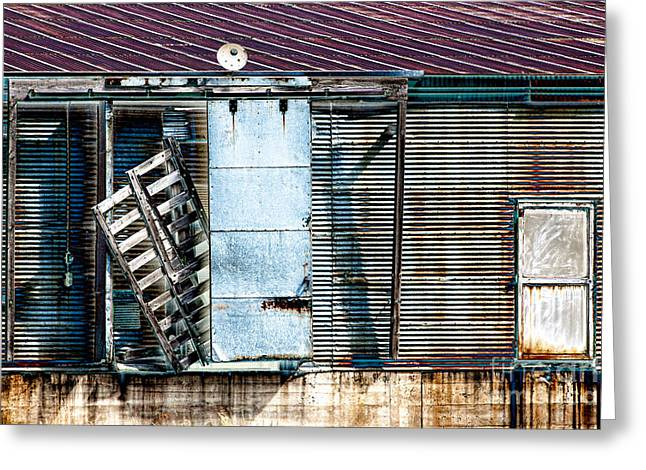 Neglected Grunge Greeting Card by Lawrence Burry