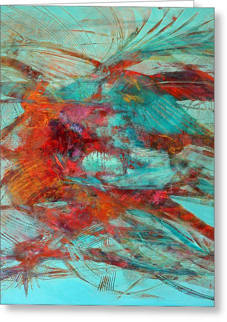 Neither Fish Nor Fowl Greeting Card by Gray Jacobik