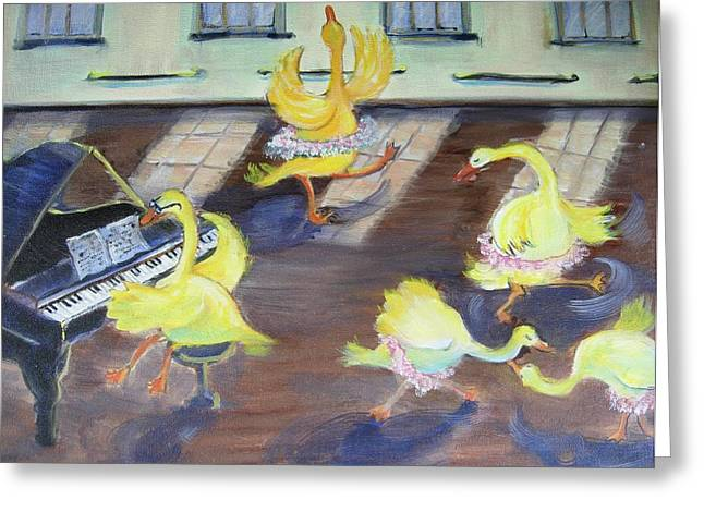 Nellie Takes Ballet...again Greeting Card by Holly Stone