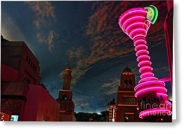 Neon City Greeting Card by Billie-Jo Miller
