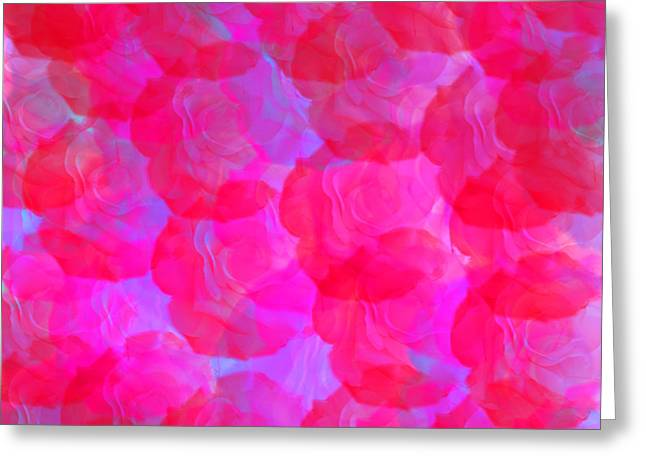 Neon Roses Greeting Card by Susan Stevenson