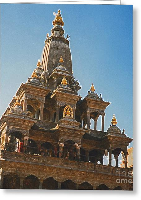 Nepal Temple 2 Greeting Card by First Star Art
